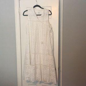White eyelet crown ivy dress XL